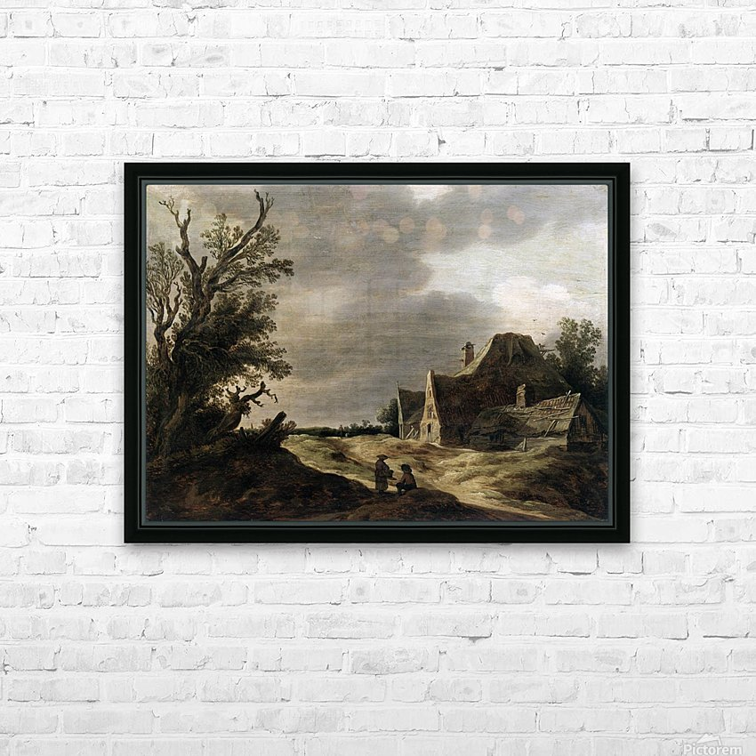 Sandy road with a farmhouse HD Sublimation Metal print with Decorating Float Frame (BOX)