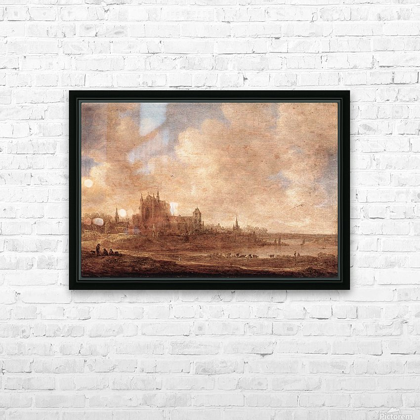View of Leiden HD Sublimation Metal print with Decorating Float Frame (BOX)