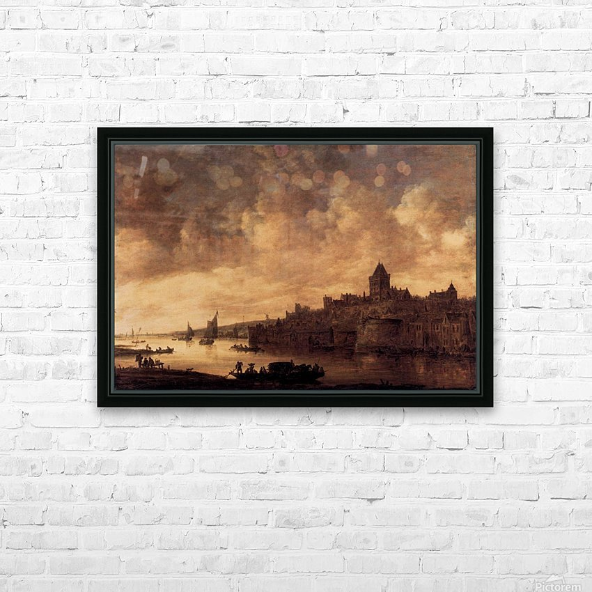 View of Nijmegen HD Sublimation Metal print with Decorating Float Frame (BOX)