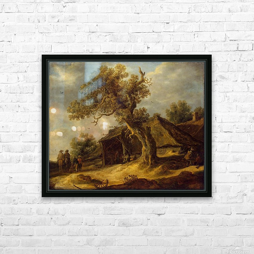 Landscape with Oak HD Sublimation Metal print with Decorating Float Frame (BOX)