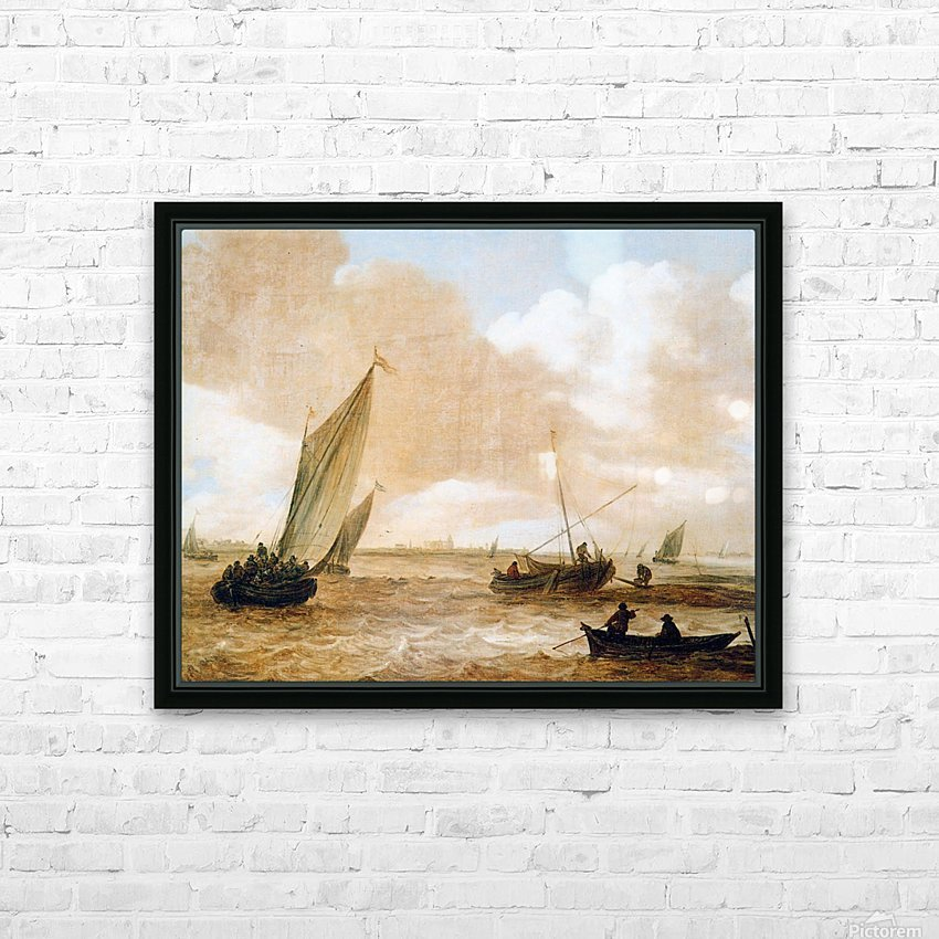Riverscape Sun HD Sublimation Metal print with Decorating Float Frame (BOX)