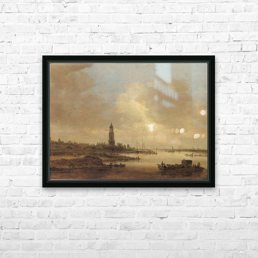 Gezicht op Rhenen HD Sublimation Metal print with Decorating Float Frame (BOX)