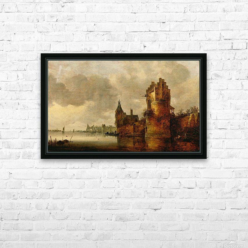 Estuary with Round Tower HD Sublimation Metal print with Decorating Float Frame (BOX)