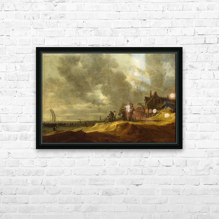 Shore at Scheveningen HD Sublimation Metal print with Decorating Float Frame (BOX)