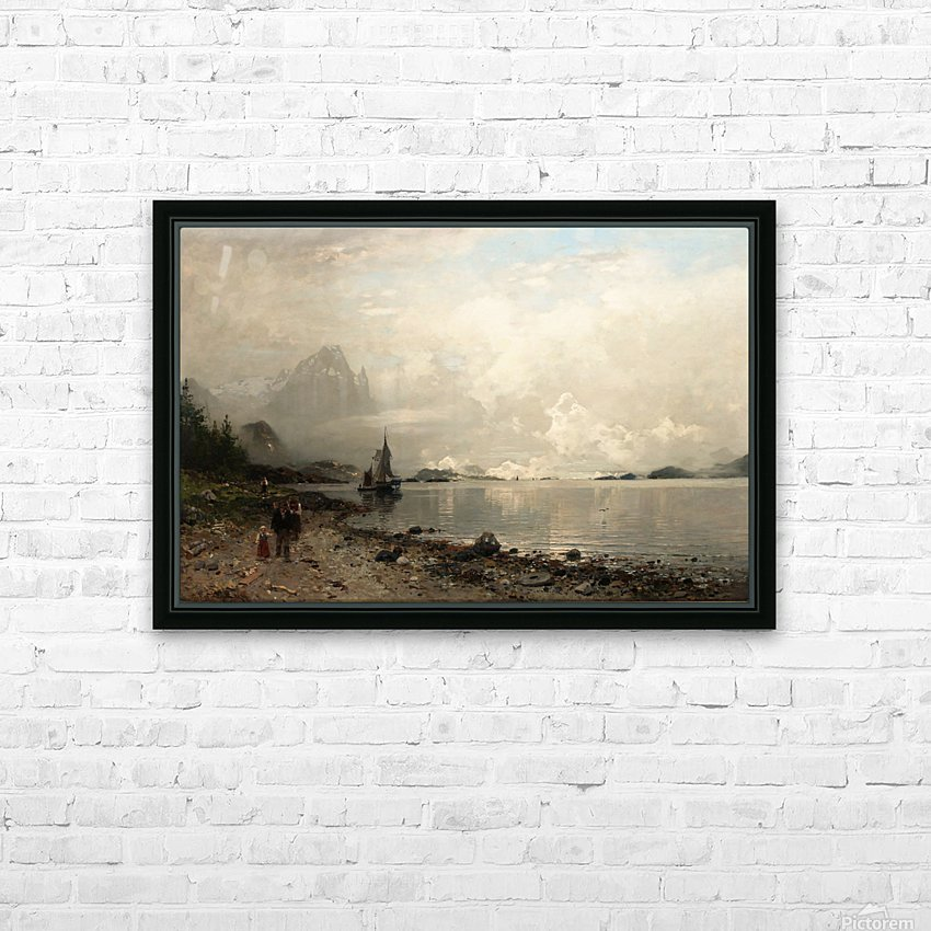 By the lake HD Sublimation Metal print with Decorating Float Frame (BOX)