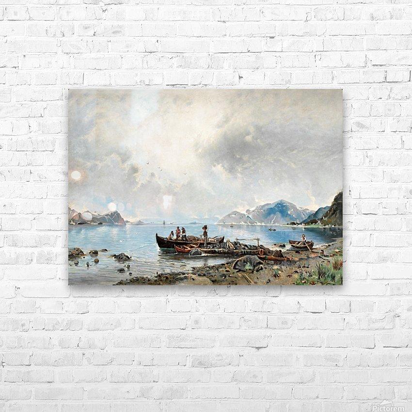 Lastning vid stranden HD Sublimation Metal print with Decorating Float Frame (BOX)