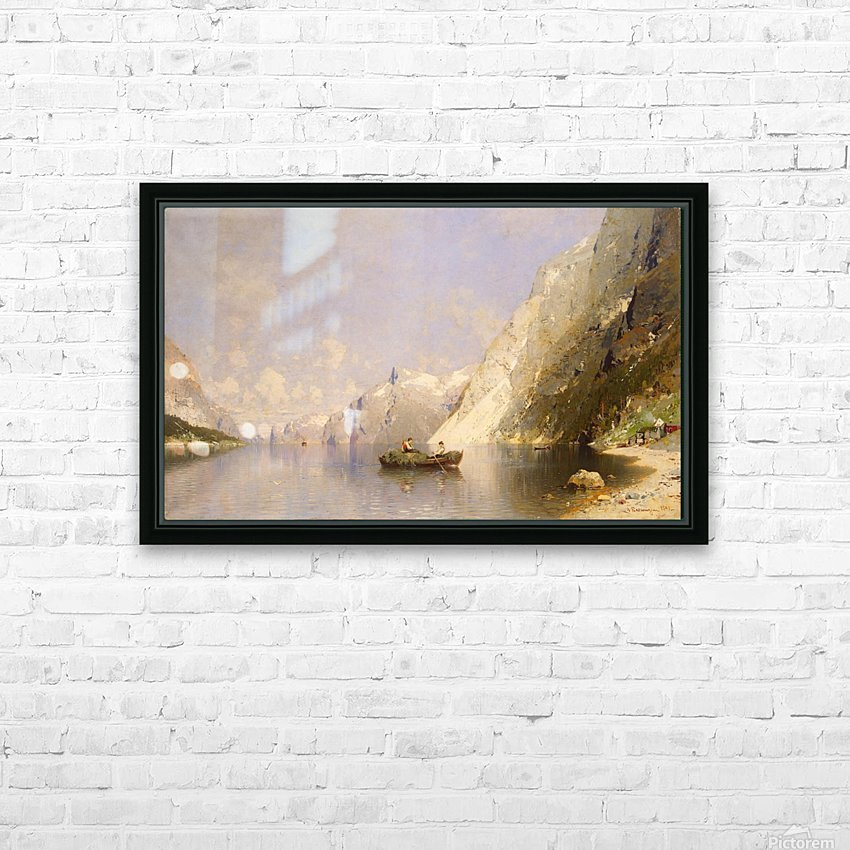Fiord in Norway HD Sublimation Metal print with Decorating Float Frame (BOX)
