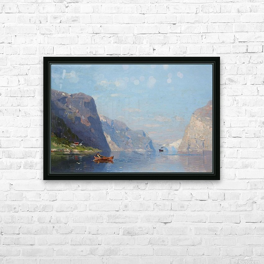Two Norwegian Fjord Landscapes HD Sublimation Metal print with Decorating Float Frame (BOX)