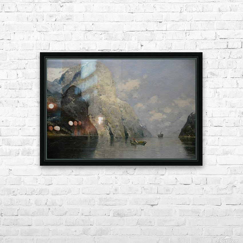 Blue Skies at Fjord HD Sublimation Metal print with Decorating Float Frame (BOX)