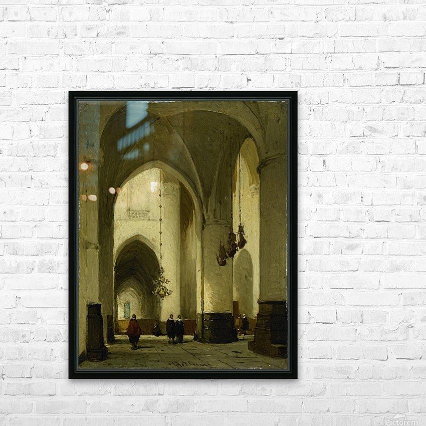 Interieur van de Grote of Sint Bavokerk te Haarlem HD Sublimation Metal print with Decorating Float Frame (BOX)