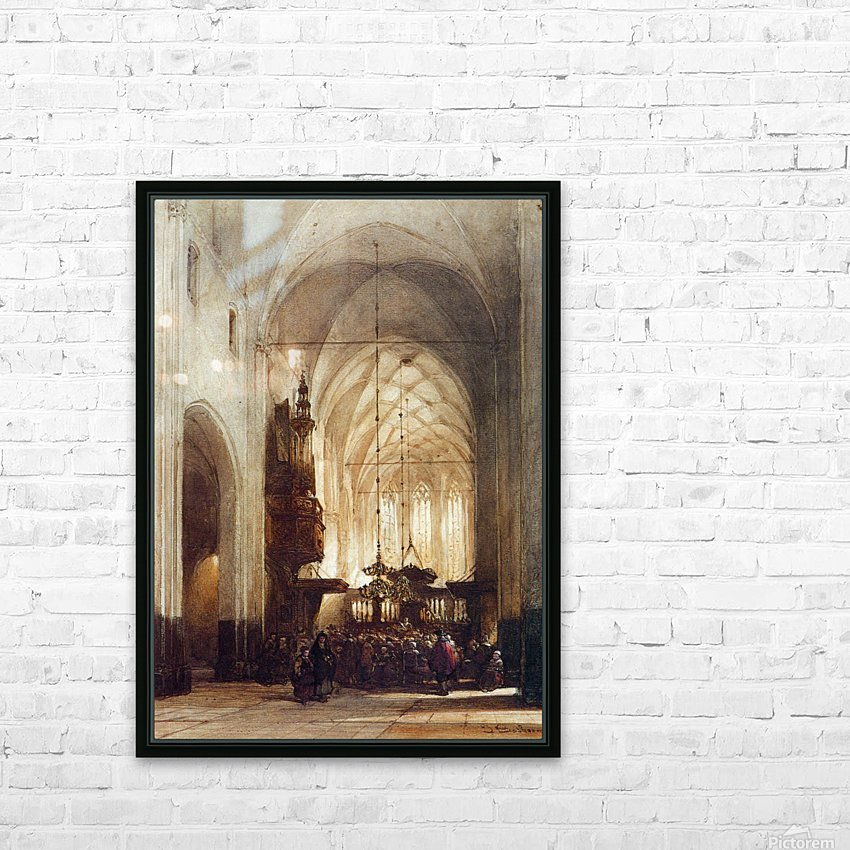 Church In Hattem Sun HD Sublimation Metal print with Decorating Float Frame (BOX)