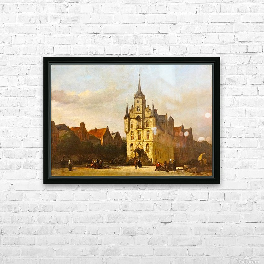 Gouda stadhuis HD Sublimation Metal print with Decorating Float Frame (BOX)