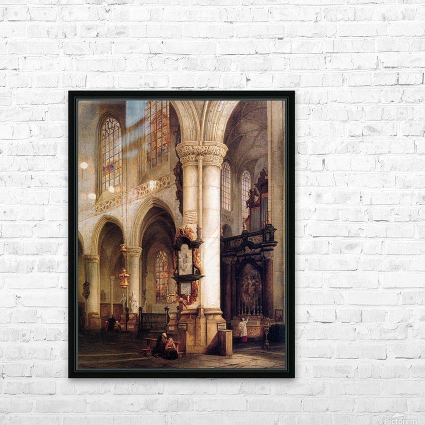 St Jacobskerk Antwerpen Sun HD Sublimation Metal print with Decorating Float Frame (BOX)