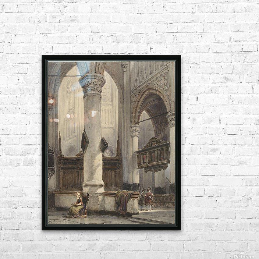 Interieur van de Nieuwe Kerk te Delft HD Sublimation Metal print with Decorating Float Frame (BOX)