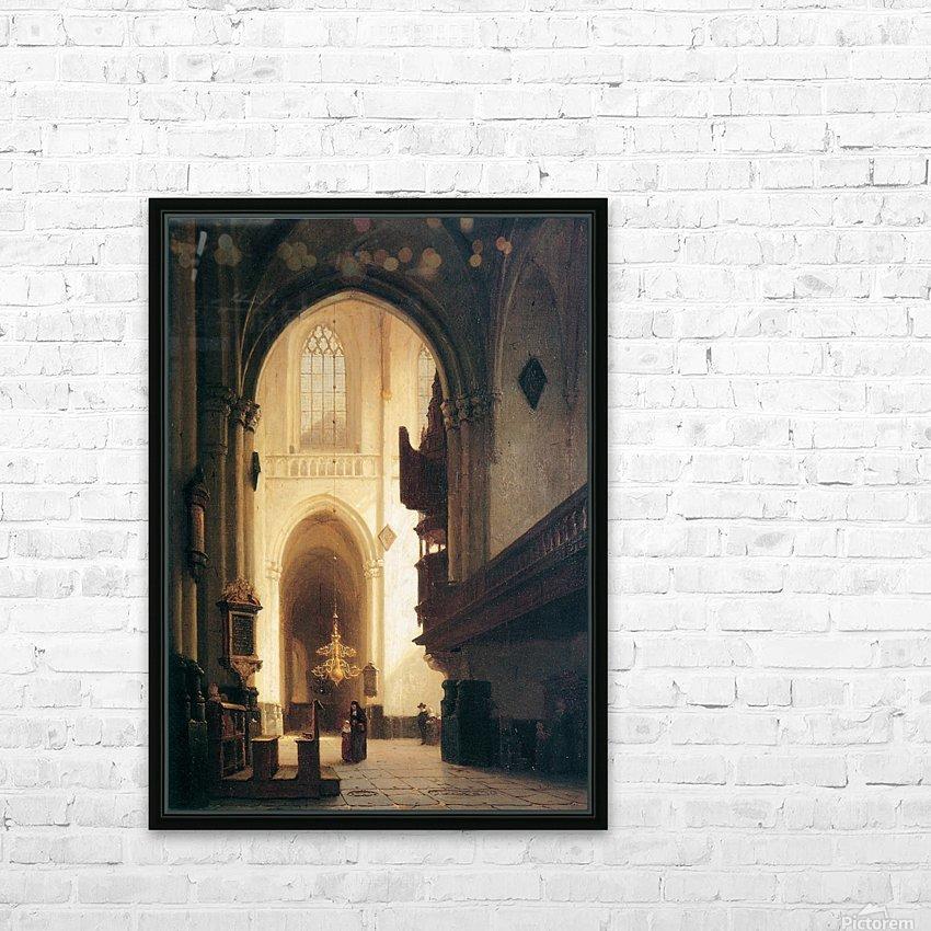 Hooglandse Kerk Leiden Sun HD Sublimation Metal print with Decorating Float Frame (BOX)
