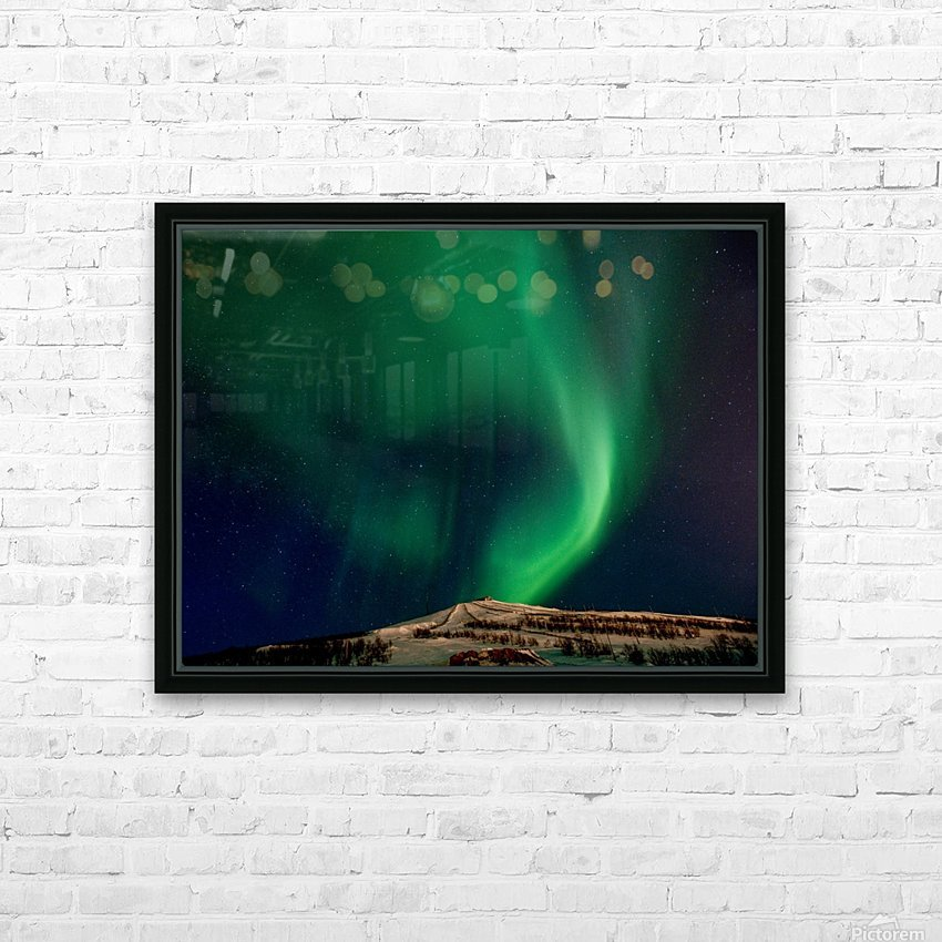 Aurora swirl HD Sublimation Metal print with Decorating Float Frame (BOX)