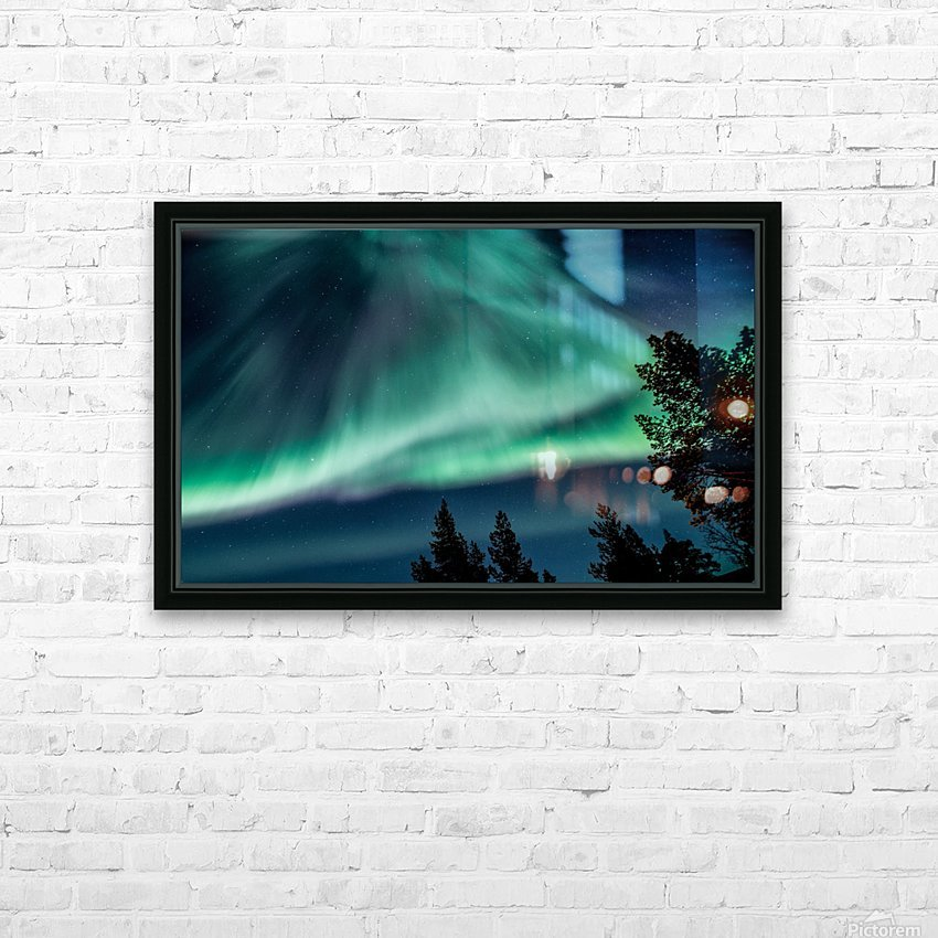 Green sky HD Sublimation Metal print with Decorating Float Frame (BOX)