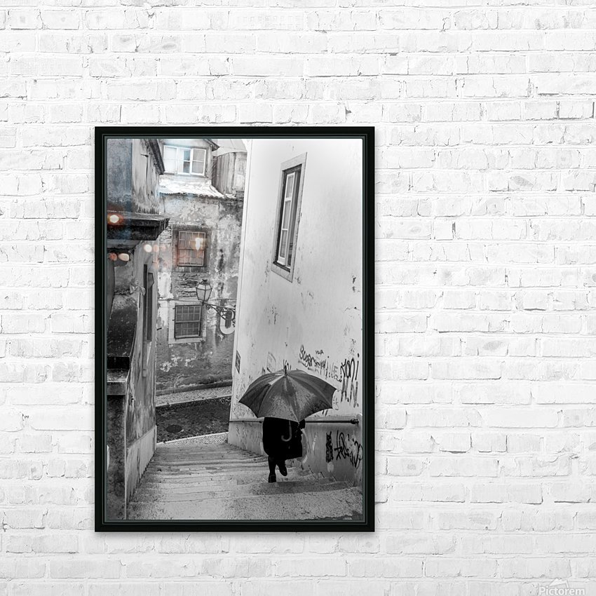 Alfama steps HD Sublimation Metal print with Decorating Float Frame (BOX)