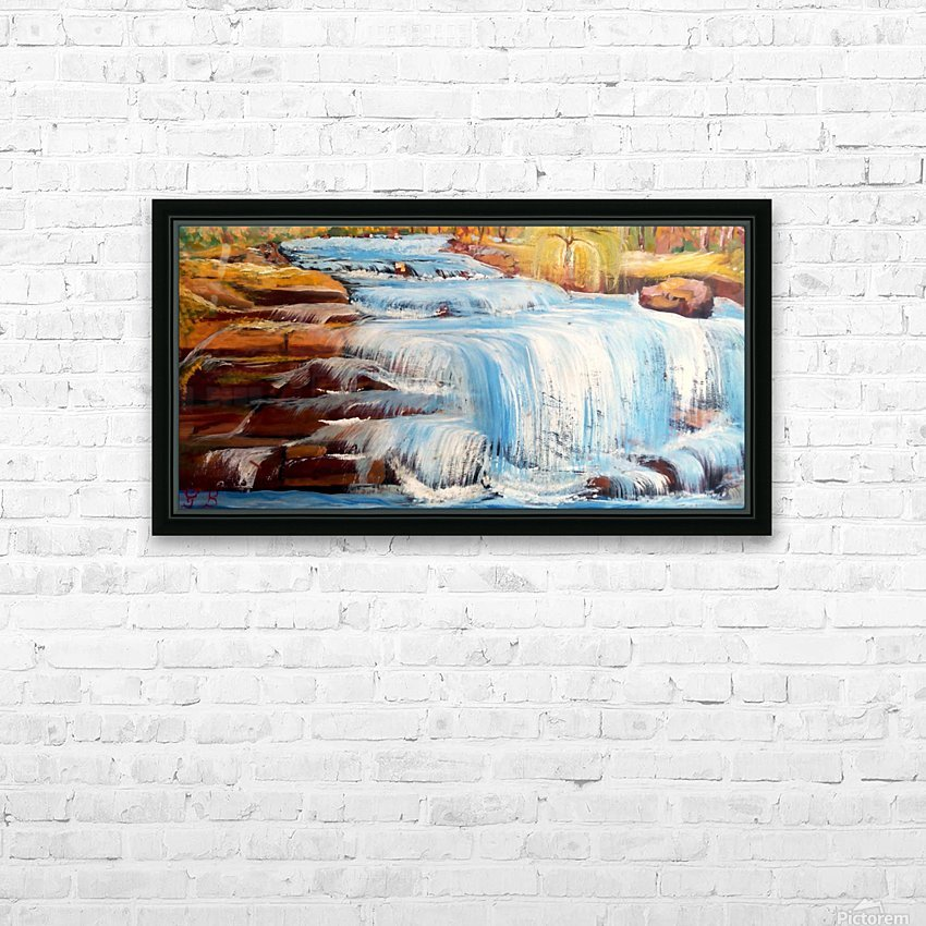 Carpatian cascade    HD Sublimation Metal print with Decorating Float Frame (BOX)