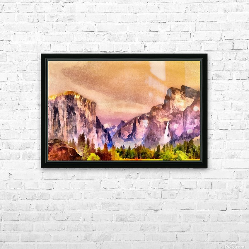 Yosemite park2 HD Sublimation Metal print with Decorating Float Frame (BOX)