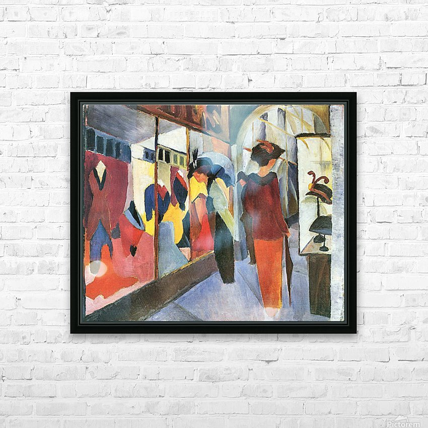 Fashion Store by August Macke HD Sublimation Metal print with Decorating Float Frame (BOX)
