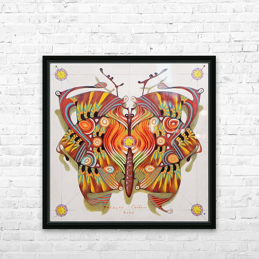 tribal butterfly HD Sublimation Metal print with Decorating Float Frame (BOX)