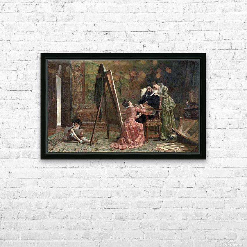 Ars Longa, Vita Brevis 1877 HD Sublimation Metal print with Decorating Float Frame (BOX)