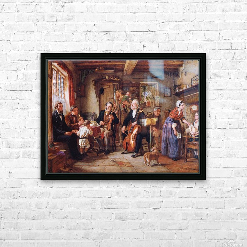 A Philharmonic Rehearsal in a Farmhouse HD Sublimation Metal print with Decorating Float Frame (BOX)