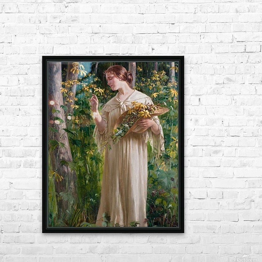 Lady in forest HD sublimation métal imprimé avec décoration flotteur cadre (boîte)