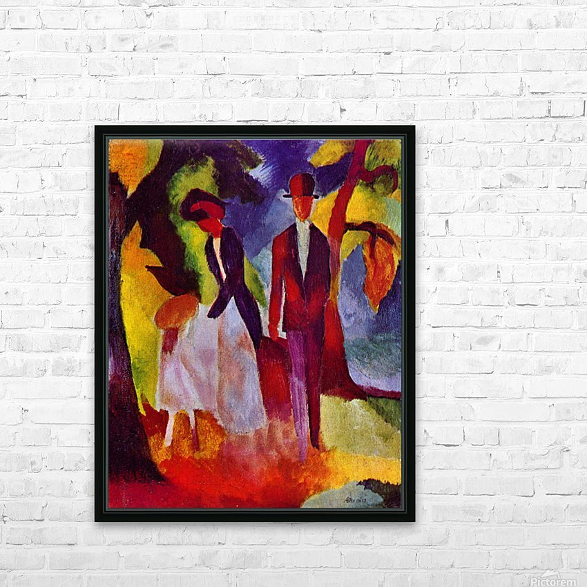 Folks at the blue sea by August Macke HD Sublimation Metal print with Decorating Float Frame (BOX)