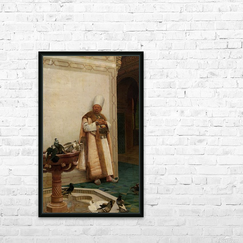 A Grand White Enuch Watching Doves HD Sublimation Metal print with Decorating Float Frame (BOX)