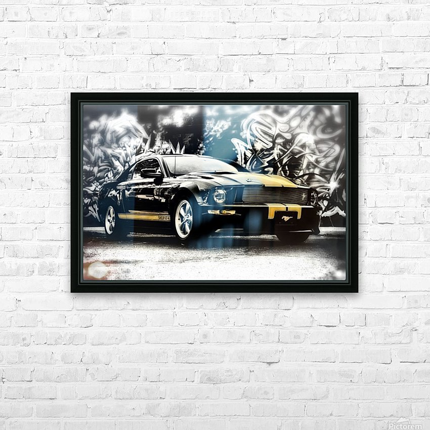 Against The Wall HD Sublimation Metal print with Decorating Float Frame (BOX)