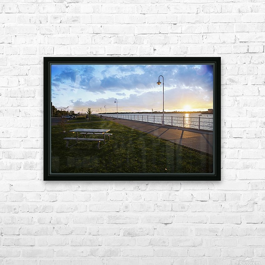 Sunset at the Park HD Sublimation Metal print with Decorating Float Frame (BOX)