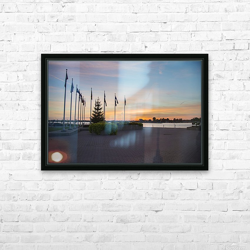Sunset on the Lake HD Sublimation Metal print with Decorating Float Frame (BOX)