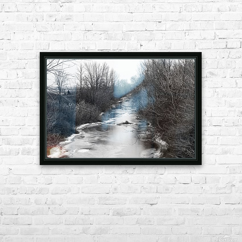 Frozen Wetlands HD Sublimation Metal print with Decorating Float Frame (BOX)
