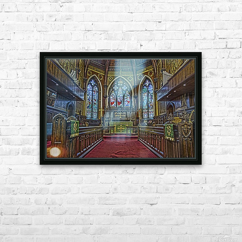 Church Interior HD Sublimation Metal print with Decorating Float Frame (BOX)