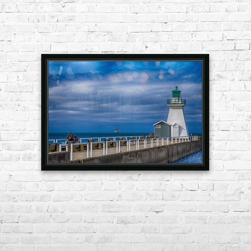 Tall ship . St Lawrence II HD Sublimation Metal print with Decorating Float Frame (BOX)