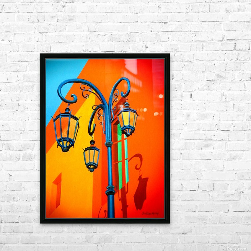 La Boca Lamp Shadows II HD Sublimation Metal print with Decorating Float Frame (BOX)