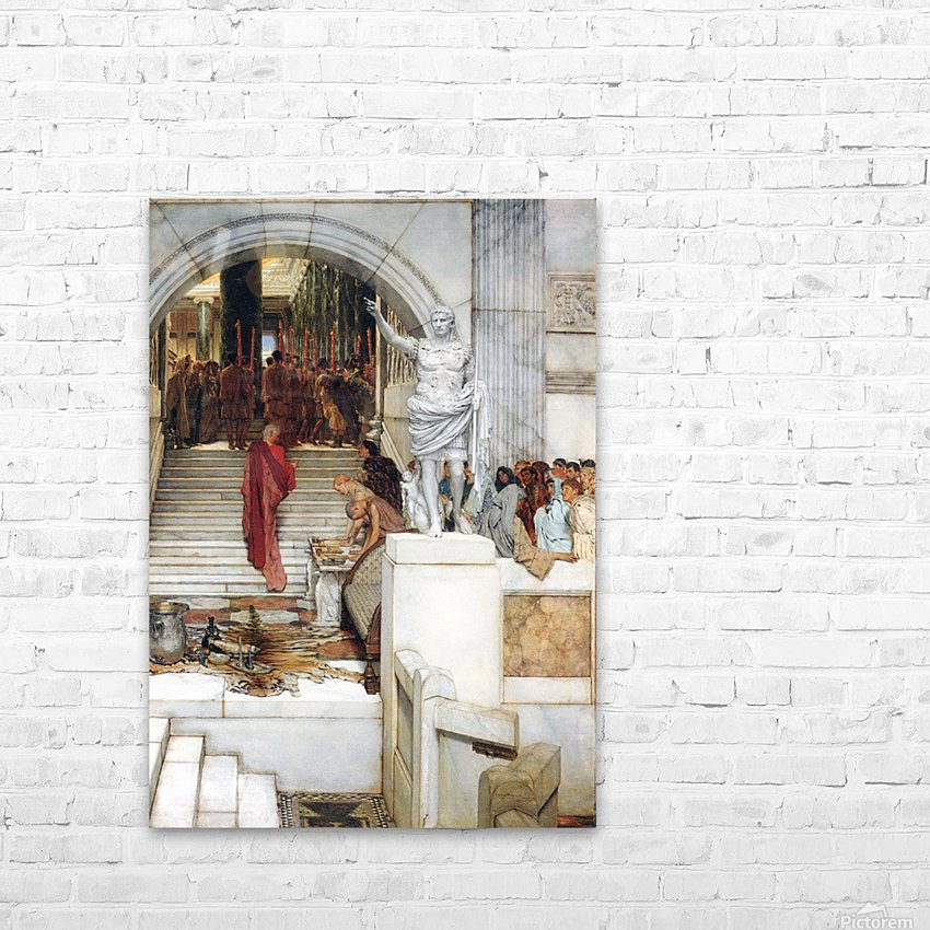 After the Audience by Alma-Tadema HD Sublimation Metal print with Decorating Float Frame (BOX)