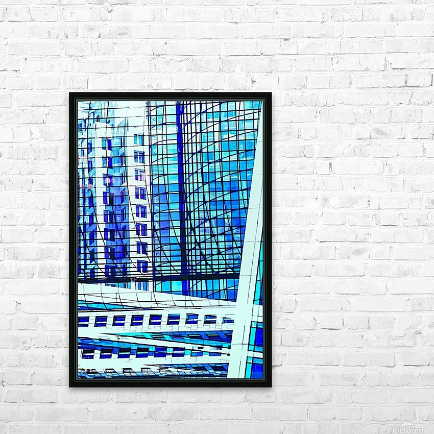 Glass and Concrete Towers_130515_14_183 HXSCYV HD Sublimation Metal print with Decorating Float Frame (BOX)