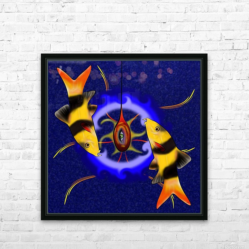 Macrachantis V1 - colourful fish HD Sublimation Metal print with Decorating Float Frame (BOX)