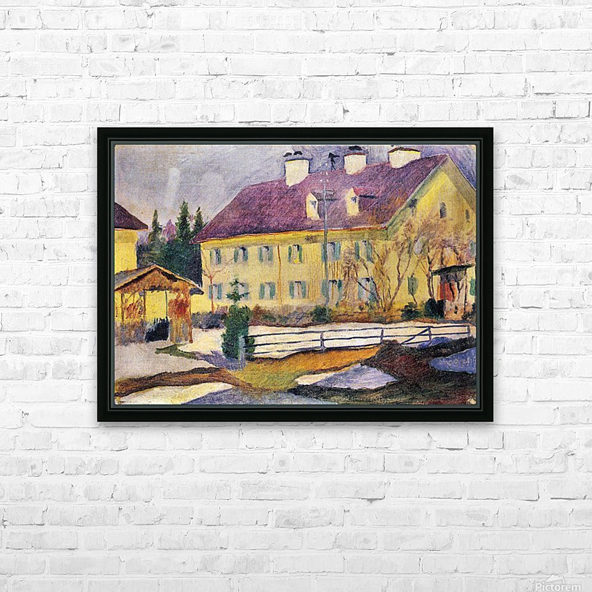 Hospital in Tegern Sea by August Macke HD Sublimation Metal print with Decorating Float Frame (BOX)