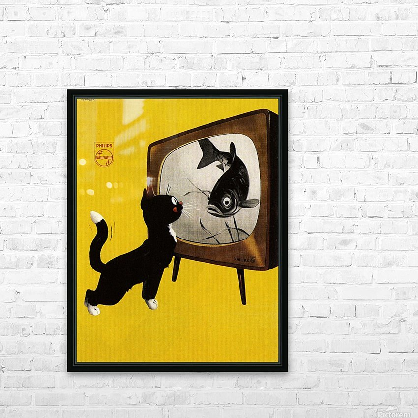 Dutch poster for Philips Tv, 1951 HD Sublimation Metal print with Decorating Float Frame (BOX)