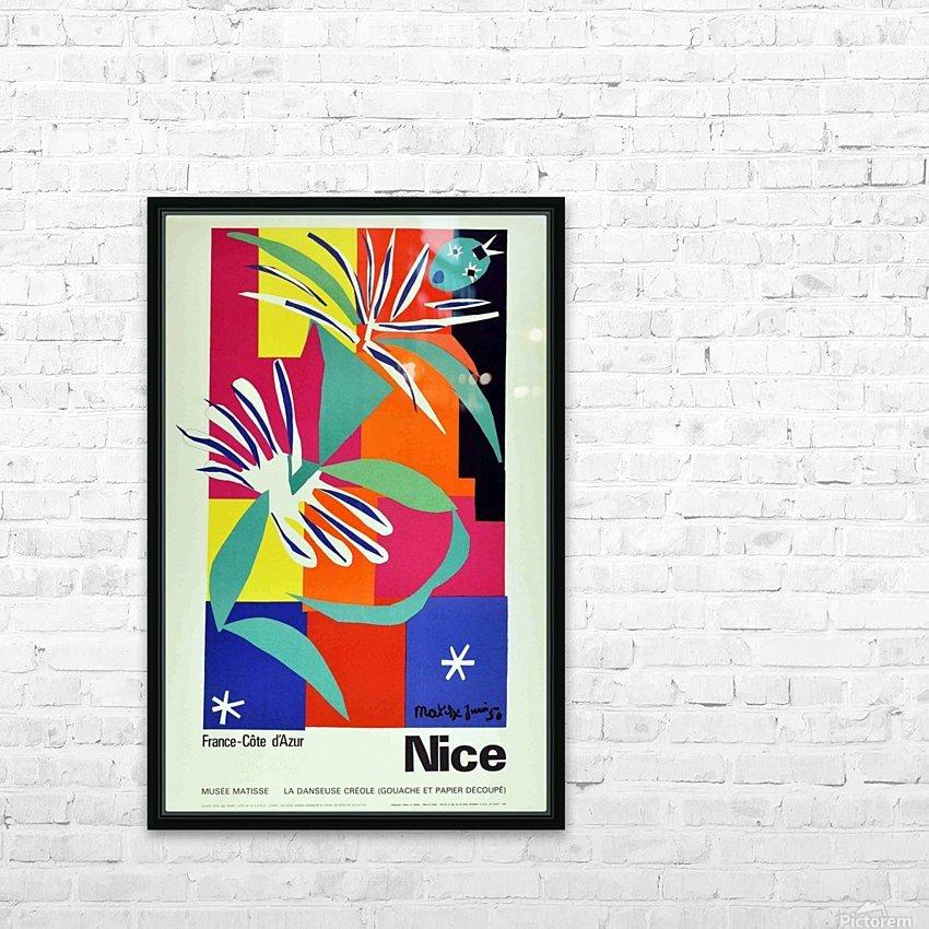 Henri Matisse Original vintage poster for Nice HD Sublimation Metal print with Decorating Float Frame (BOX)