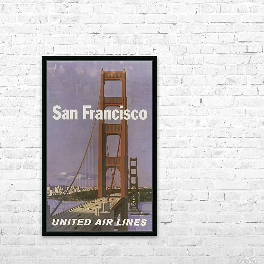 United Airlines Poster for San Francisco HD Sublimation Metal print with Decorating Float Frame (BOX)