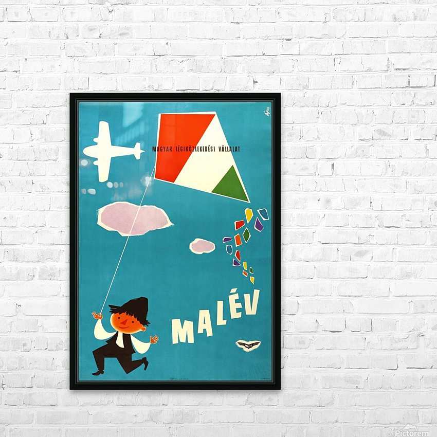 Malev Hungarian Airlines poster HD Sublimation Metal print with Decorating Float Frame (BOX)