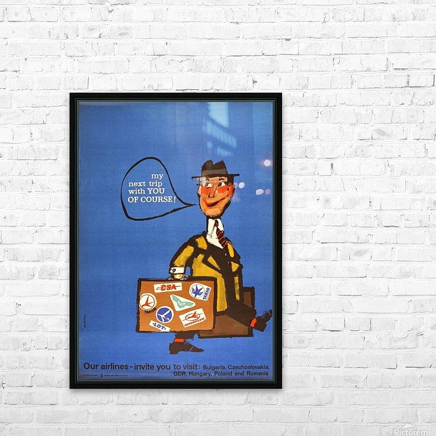 Vintage Interflug Poster HD Sublimation Metal print with Decorating Float Frame (BOX)