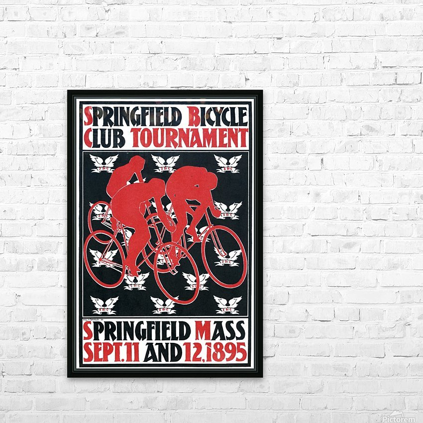 Springfield bicycle club tournament HD Sublimation Metal print with Decorating Float Frame (BOX)