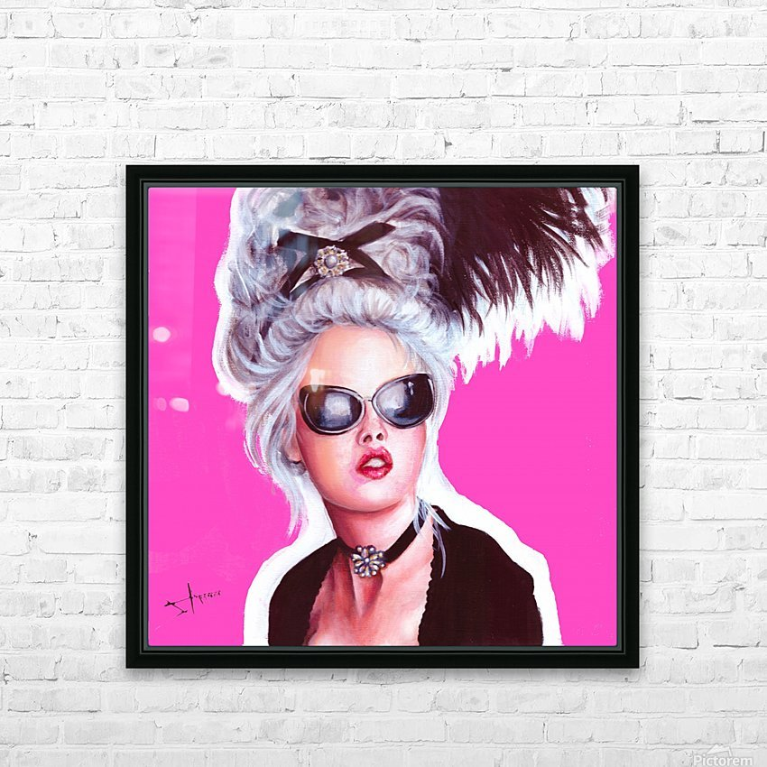 marie in black HD Sublimation Metal print with Decorating Float Frame (BOX)