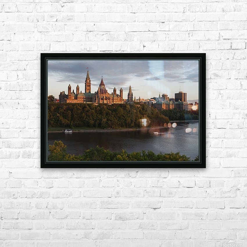 Parliament Hill; Ottawa, Ontario, Canada HD Sublimation Metal print with Decorating Float Frame (BOX)